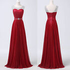 2015 Dark Red WEDDING Bridesmaid Prom Ball Dresses Evening Party Graduation Gown
