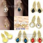 Crystal Rhinestone Eardrop Earring Earrings Women Dangle Ear Stud Studs Fashion