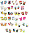 10 PARTY CUPS - Range of LICENSED CHARACTER DESIGNS (Birthday Supplies){Set5}