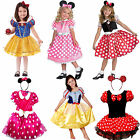 Girls Children Fairy Tale Storybook Minnie Mouse Snow White Fancy Dress Costume