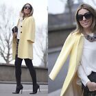 Zara Bell Sleeve Pastel Yellow Coat Xs S M L Xl 6 8 10 12 14 Must Have Spring