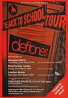 DEFTONES Back To School 2001 UK Tour PHOTO Print POSTER White Pony Shirt 001