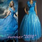 2015 New Sandy Princess Women Blue Dress Party Cosplay Costume Adult deluxe Gown