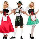 Bavarian Fancy Dress Costume - Mens Ladies Oktoberfest German Maid / Lederhosen