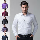 Always Pop Mens Slim Fit Long Sleeve Polo Shirt Casual Dress Shirts T Shirt Tee