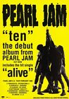 PEARL JAM Ten PHOTO Print POSTER Alive Vs. Eddier Vedder Shirt Lightning Bolt 05