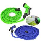 Flexible Latex 25 50 75 100 Feet Expanding Garden Water Hose & Spray Nozzle L13