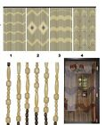 JVL Wooden Bamboo Beaded Fly Screen Door Curtain 90 x180cm Qulaity Product cheap