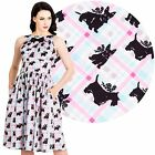 Hell Bunny Scottie 50s Dress Rockabilly Pin Up Vintage 50s Retro Dog Plaid Cute