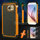 For Samsung Galaxy S6 edge Rugged Shockproof Matte Hard Dual Silicone Case Cover