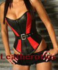 Leather corset basque bustier corsage overbust 1807