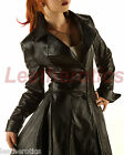 LEATHER COAT BURLESQUE VICTORIAN OVERCOAT JACKET TOP GOTHIC COSTUME