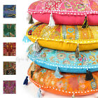 """LARGE SELECTION of 17"""" ROUND FLOOR PILLOW CUSHION COVER Yoga Seating Tapestry"""