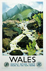 WALES   Vintage GWR/LMS Railway Poster A1,A2,A3,A4 Sizes