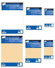 5/////Self seal envelopes peel and seal white or manilla brown sizes DL, C5 & C4