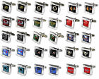 cufflinks square wedding grooms gift set NHL PICK YOUR TEAM