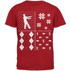 Zombies Festive Blocks Ugly Christmas Sweater Red Youth T-Shirt