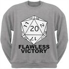 Flawless Victory D20 Role Playing Game Adult Grey Crew Neck Sweatshirt $28.95 USD on eBay