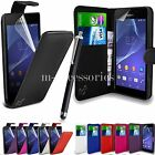 FLIP WALLET CASE POUCH PU LEATHER COVER FOR SONY XPERIA E4g MOBILE E2003,E2006