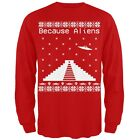 Because Ancient Aliens Pyramid Ugly Christmas Sweater Adult Long Sleeve T-Shirt