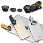 3in1 FishEye + Wide Angle +Macro Camera Clip Lens For iPhone 4S 5 5S 6 Plus iPad