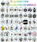 V Charms Spacers Rhinestone European Geocache Jewelry Paracord Charm YOU PICK