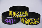 "BRING ME THE HORIZON BMTH Silicone 1"" Wide Filled in Colour Wristband Bracelet"