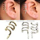 Punk Temtation Ear Coiled Snake Cartilage Cuff Wrap Clip On Earrings No piercing
