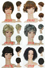 Synthetic Fiber Short Wave / Curly Casual Full Hair Wig (Adjustable Head Size)