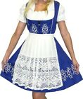 DIRNDL German Dress Trachten Oktoberfest 3pc Short BLUE German EMBROIDERED Party