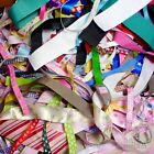 Assorted Sizes Designs Satin Grosgrain Ribbon 10/25x1Yards Off Cuts Bundle Smart