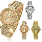 Charming Ladies Womens Bling Crystal Stainless Quartz Bracelet Wrist Dress Watch
