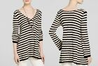 NEW FREE PEOPLE FASHION  STRIPED SWING TUNIC LONG SWEATER TOP XS S M L