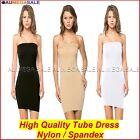 Basic Tube Top Tube Dress Strapless Slip Sexy Stretchable Tight Shapewear 8 - 16