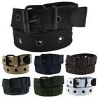 Premium Single Row Grommet Fabric Belt 1 Hole Canvas Web Stud Punk Rock Goth Emo