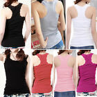 Women's Sexy Lace Tank Top Racer Back Cami Vest No Sleeve T-Shirt 6 Colors
