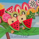 FUNKY FRUIT SALAD EARRINGS CUTE KITSCH KAWAII POP RETRO FUN NOVELTY TUTTI FRUTTI