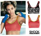 4490 Shock Absorber Support Sports Bra S4490 Floral Print, Bubble Print, Black