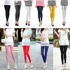 Women High Waist Stretch Skinny Leggings Candy Color Pencil Pants Slim Trousers