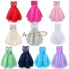 New Flower Girl Princess Empire waist Wedding Party Pageant Prom Ball Gown Dress