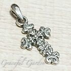 PD2797 Graceful Garden Vintage Style Acient Cross Charm Pendant