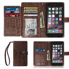 Arium Dual Wallet Leather Book Flip Case Cover for Apple iPhone Samsung LG