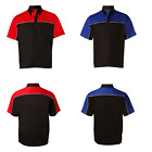 NEW MENS RACER TWO TONE TEAM BOWLING UNIFORM WORK CASUAL SHORT SLEEVE SHIRT TOP