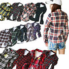 Women Casual Plaid Check Shirts Button Ladies Tops Blouses Tee UK Size 6 8 12 14