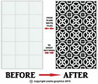 """Circle Mosaic Stickers Transfers for 148mm  / 150mm  / 6"""" x 6"""" Inch Tiles (A6)"""