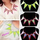 New Stylish Coming Gold Metal  Triangle Enamel Necklace Pendant 3 Color