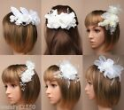 STYLISH BRIDAL HAIR PIECE, FASCINATOR, CHEAPEST ON EBAY, WEDDING, RACES, ASCOT