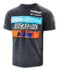 NEW TROY LEE DESIGNS TLD KTM LUCAS OIL TEAM MEN'S TEE T-SHIRT CHARCOAL ALL SIZES