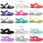 Retro Jelly Sandals Women Girls Summer Beach Flat Flip Flops Shoes Size