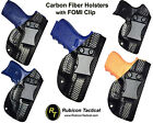 Carbon Fiber Holsters, IWB, Black w / FOMI Clip, Concealed Carry, Ships Fast!!!